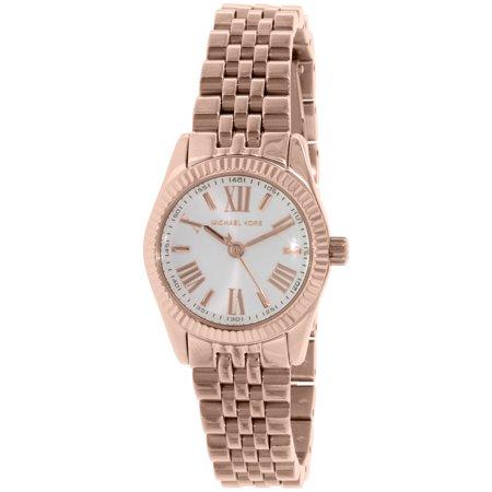 38968872252d Michael Kors - MK3230 Women s Petite Lexington Mini-Size White Dial Rose  Gold Steel Watch - Walmart.com