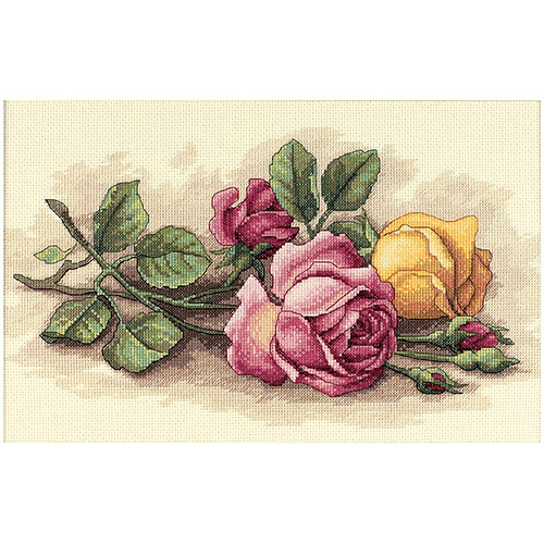 "Dimensions ""Rose Cuttings"" Counted Cross Stitch Kit, 14"" x 9"""