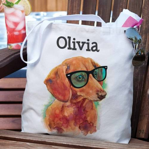 Personalized Dog Breeds Beach Tote Bag