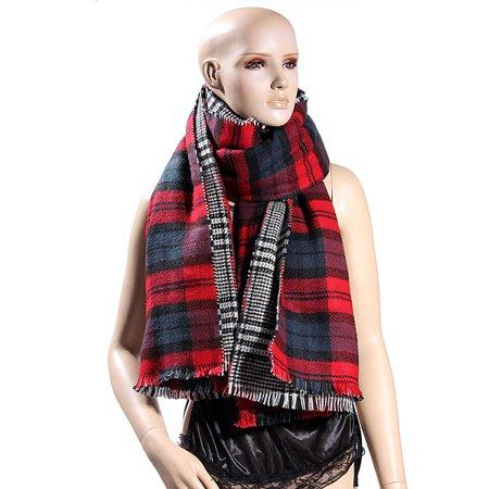 Lady Women Large Tartan Scarf Wrap Shawl Neck Stole Warm Blanket Scarf - Clearance - image 4 de 4