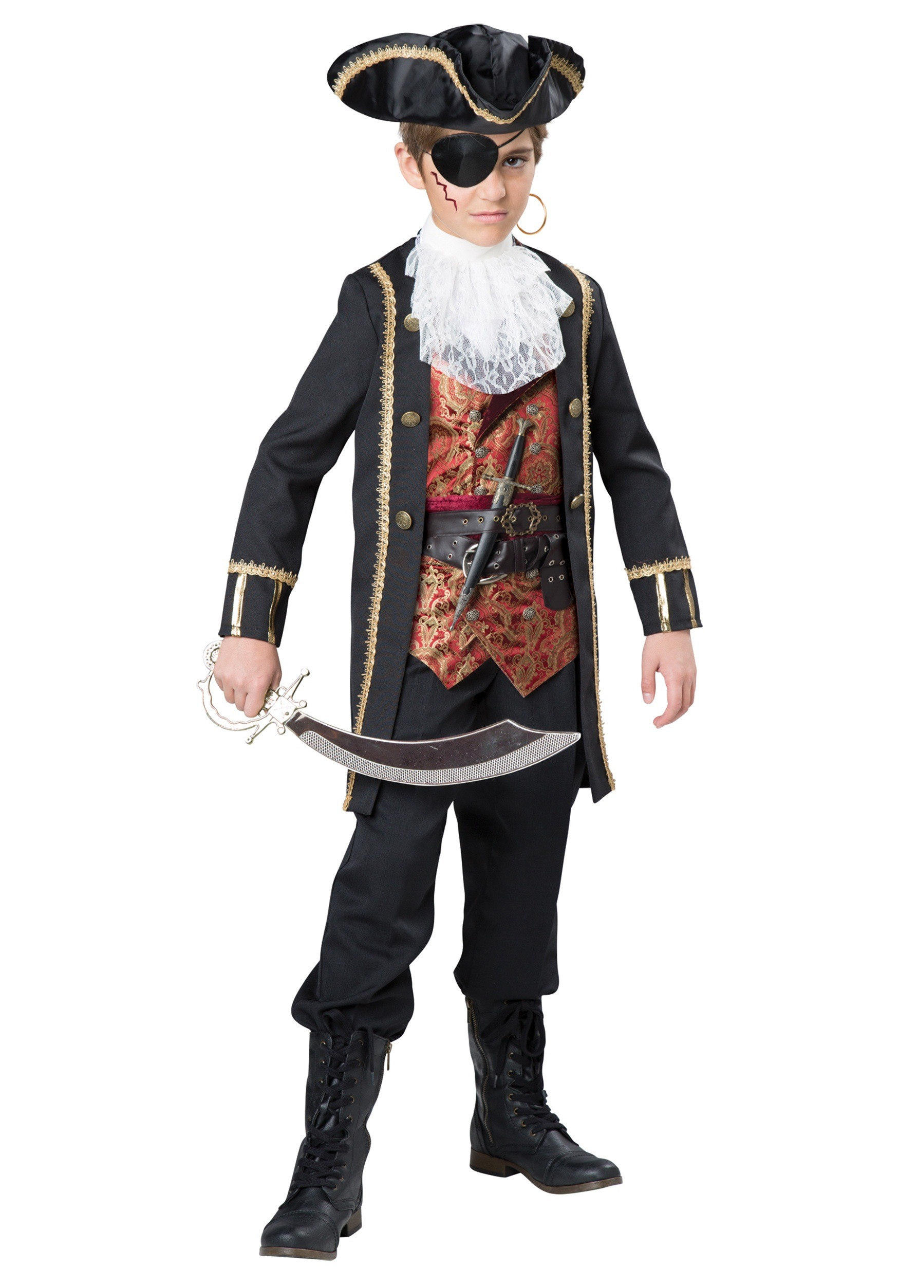 Boys Captain Scurvy Pirate Halloween Costume by InCharacter