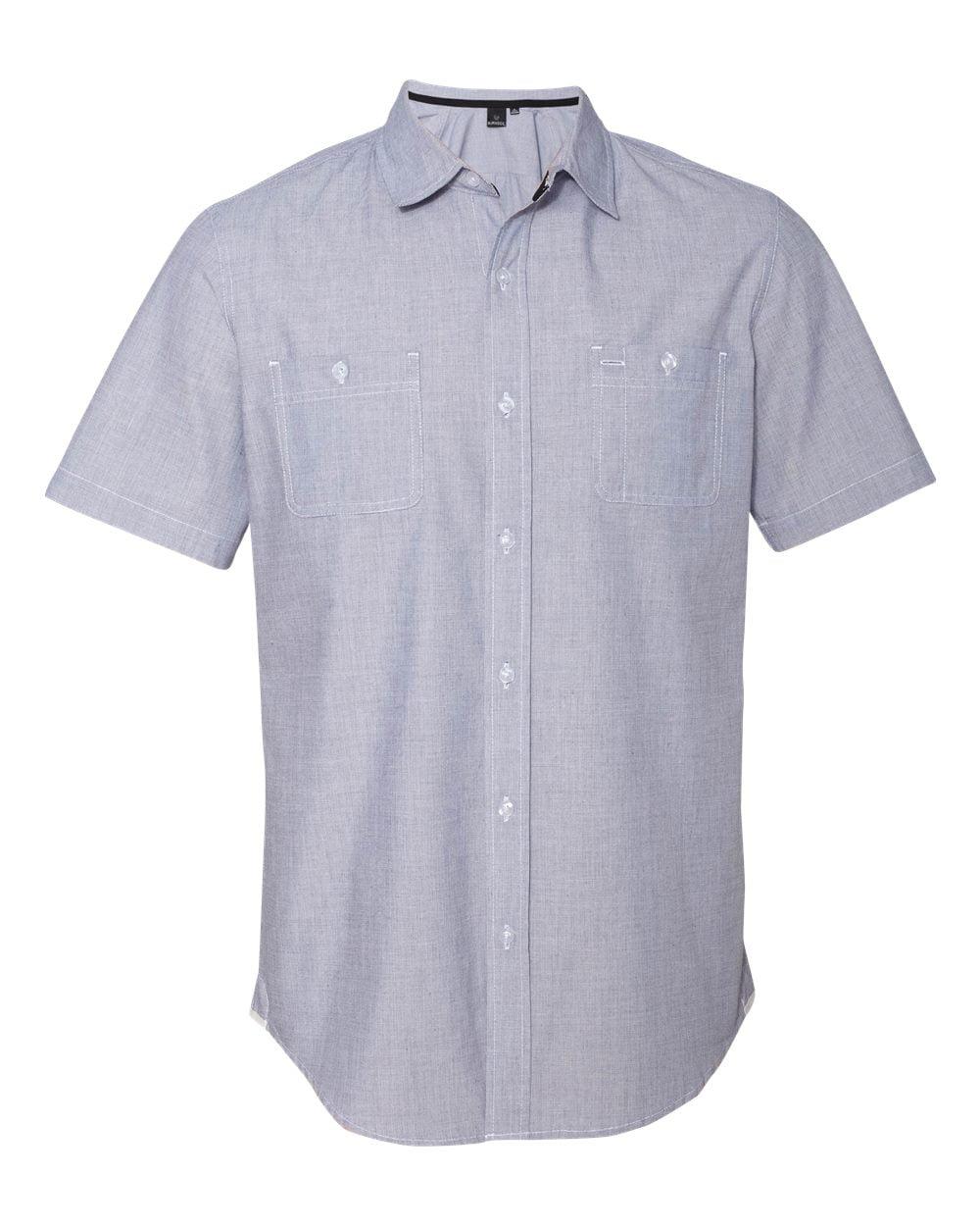 Burnside Mens Mini-Check Short Sleeve Shirt 9257 S-3XL Closeout