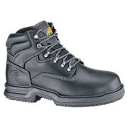 Shoes For Crews Size 8-1/2 Composite Toe Boots, Men's, Black, W, 8282W