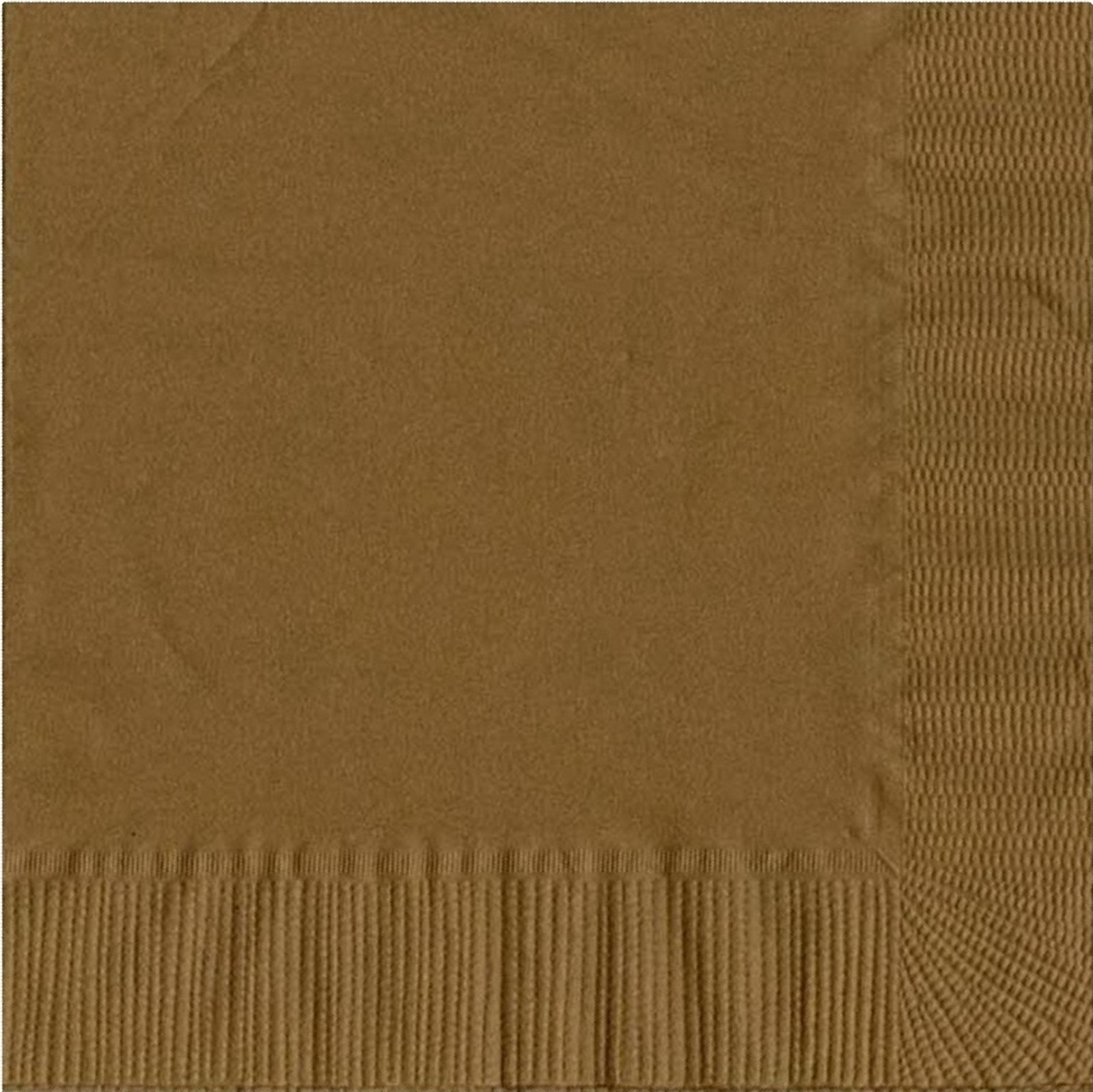 50 Plain Solid Colors Luncheon Dinner Napkins Paper - Gold