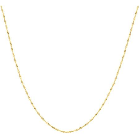 Women's 10kt Yellow Gold Singapore Chain, 22