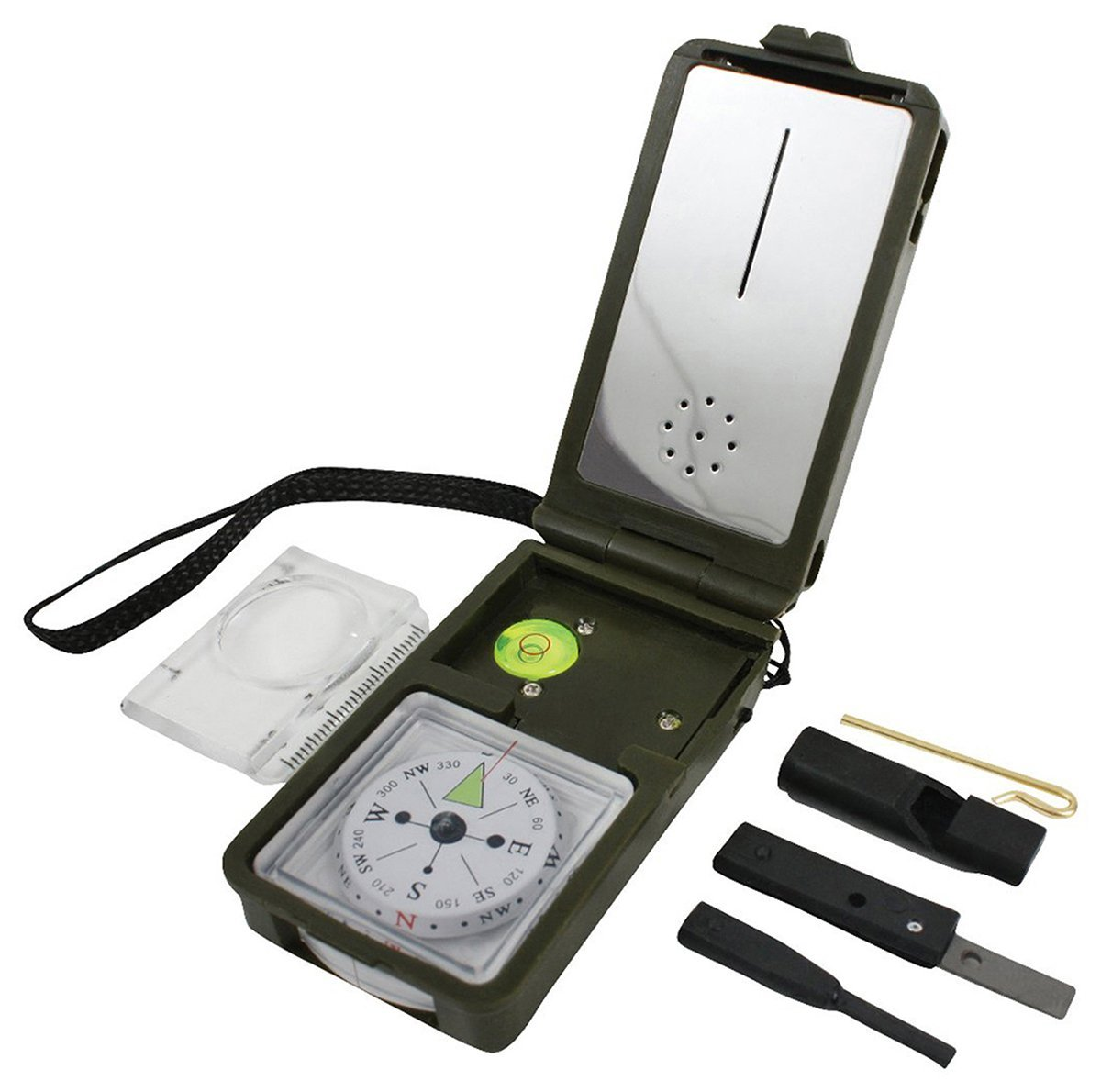 Multi-Function Compass Kit, Olive Drab, Quality tested and ensured for maximum durability By Rothco