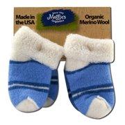 Maggies Functional Organics - Wool Socks Blue Infant 2 pk