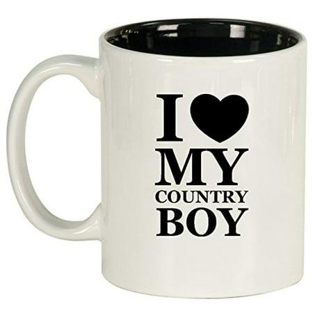 Boys Coffee (Ceramic Coffee Tea Mug I Love My Country Boy)
