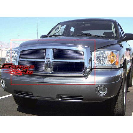 Compatible with 2005-2007 Dodge Dakota Main Upper Billet Grille Insert D85344A