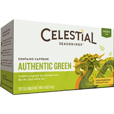 Authentic Tea (6 Pack - Celestial Seasonings Authentic Green Tea 20 ea )