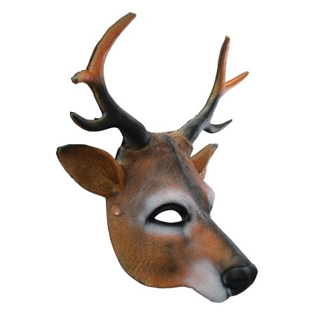 Unisex Reindeer Foam Latex Half-Mask  Halloween Christmas Costume Accessory - Foam Latex Mask