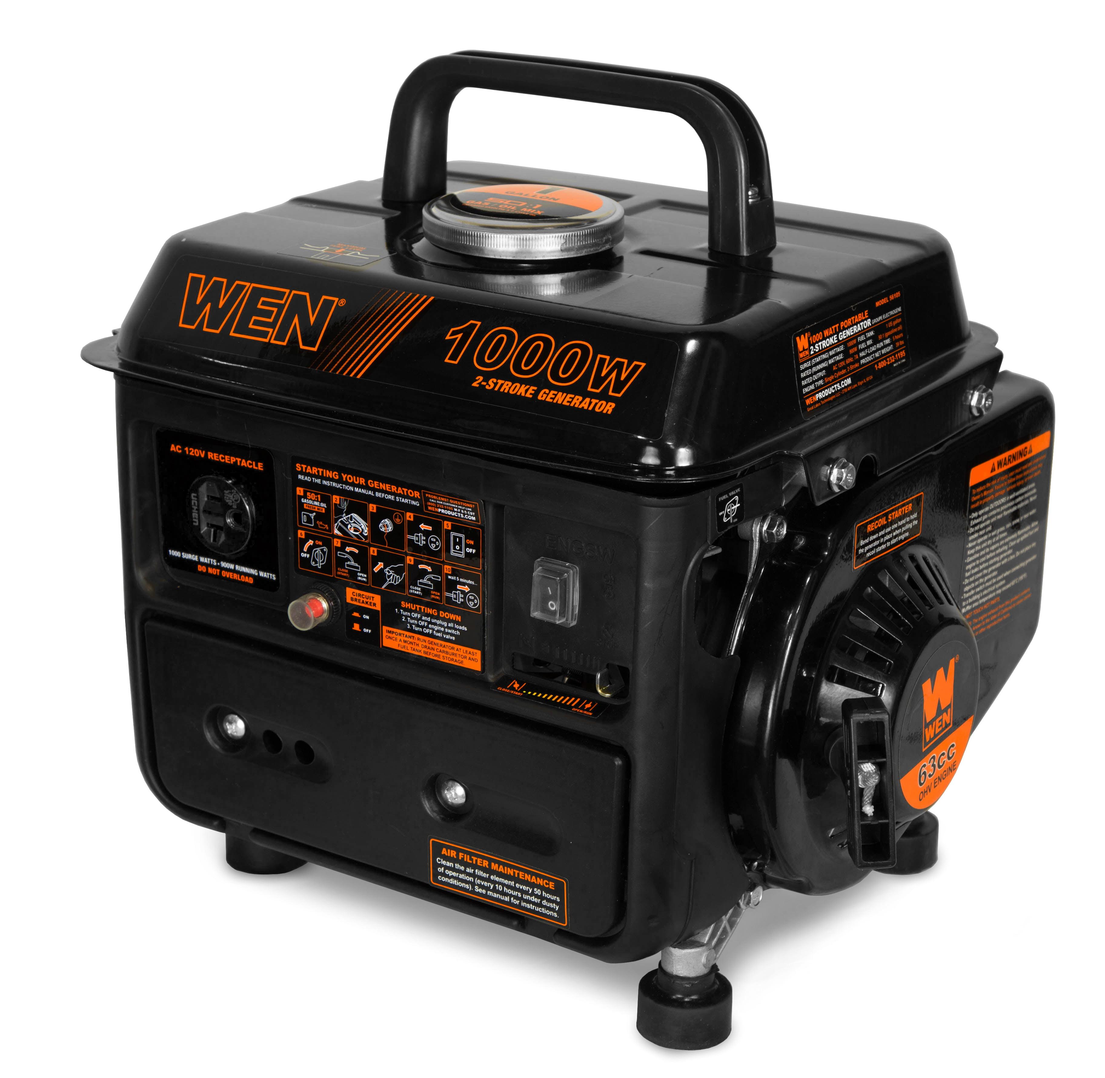 WEN 1000-Watt Portable Generator, CARB Compliant