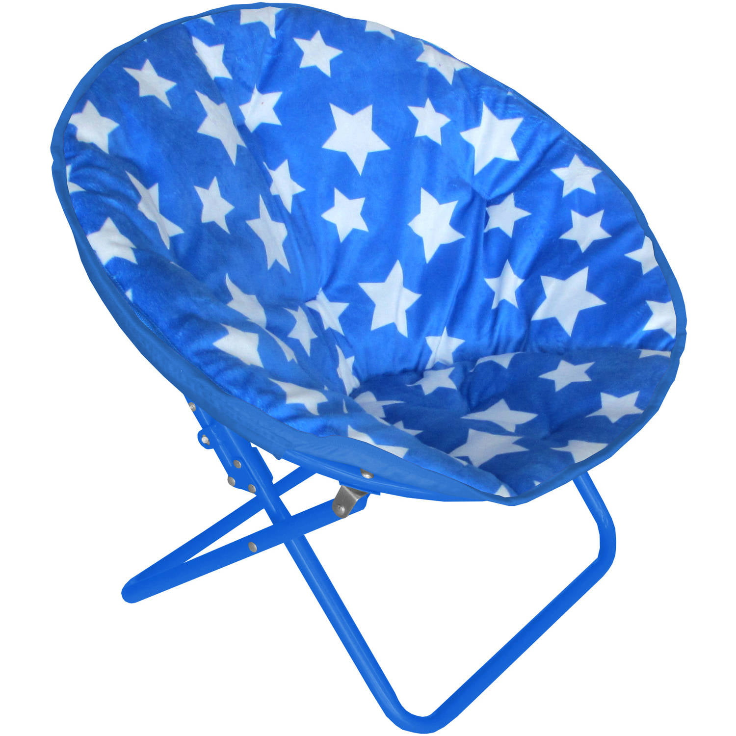 American Kids Printed Faux-Fur Saucer Chair, Multiple Patterns by Idea Nuova