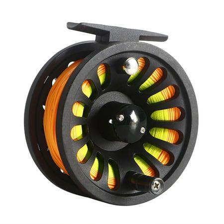 1+1B Bearing Fly Fishing Reel Fishing Line + Extension Line+Taper Leader + Tippet Set Line Color:Yellow & Orange thumbnail