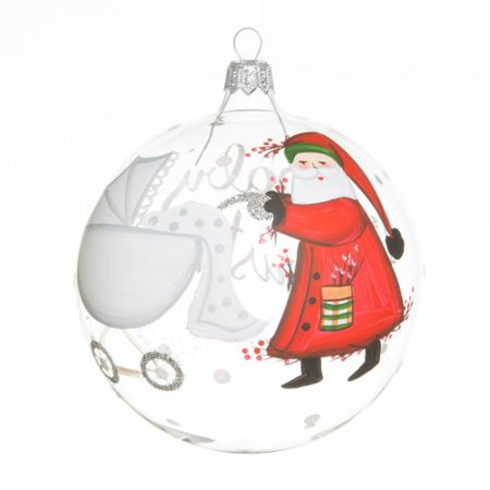 Vietri Old St. Nick Baby's First Christmas Ornament ()