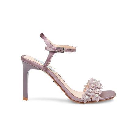 SB-Snow Embellished Satin Ankle-Strap Sandals
