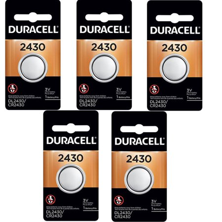 5 Pcs Duracell 2430 CR2430 DL2430 3V Lithium Coin Cell (Sony Lithium Coin Cell Batteries)