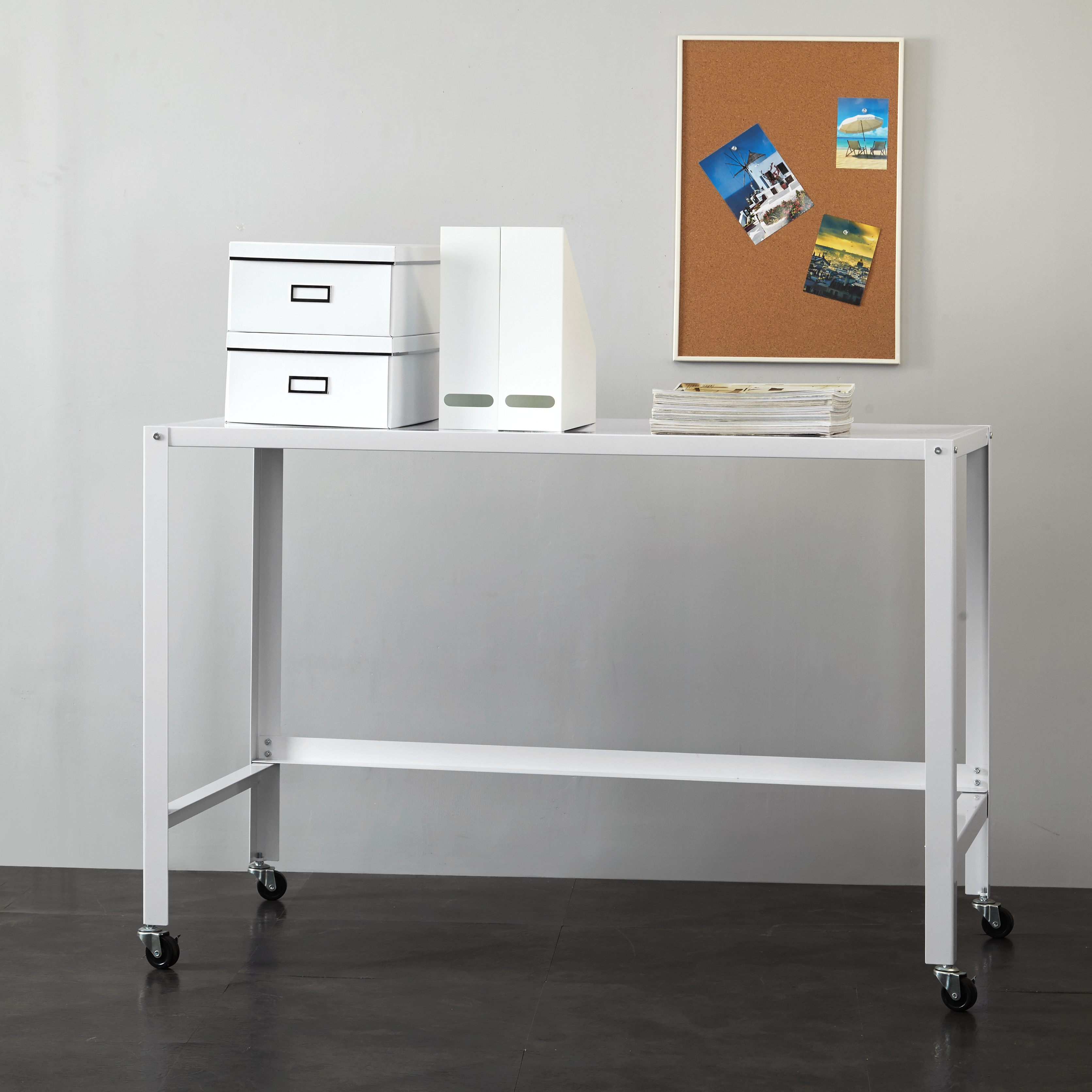 Mainstays Metal Console Rolling Desk, Multiple Colors