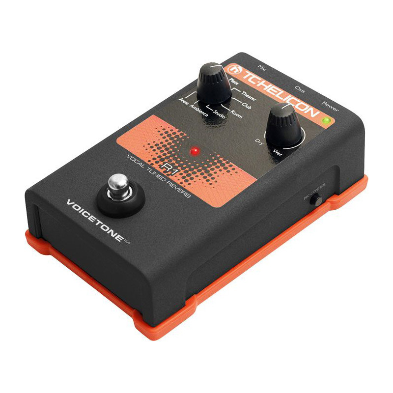 TC Helicon VoiceTone R1 Vocal Tuned Reverb Effect Pedal
