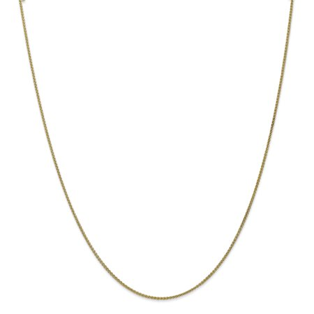 10k Yellow Gold 1.25mm Spiga Necklace Chain Pendant Charm Gifts For Women For Her