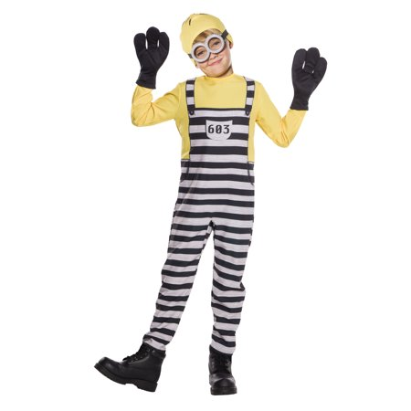 Despicable Me 3 Jailed Minion Tom Boy Childs Halloween Costume - Despicable Me Purple Minion Costume