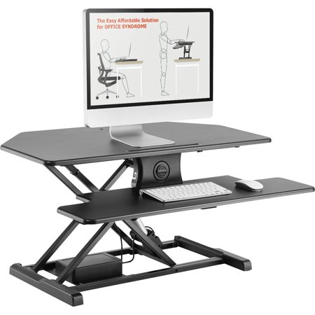Incredible Advanceup 37 4 Electric 2 Tier Corner Standing Desk Top Converter Ergonomic Stand Up Office Riser Download Free Architecture Designs Grimeyleaguecom