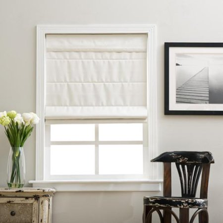 arlo blinds ivory cordless fabric roman blackout shade. Black Bedroom Furniture Sets. Home Design Ideas