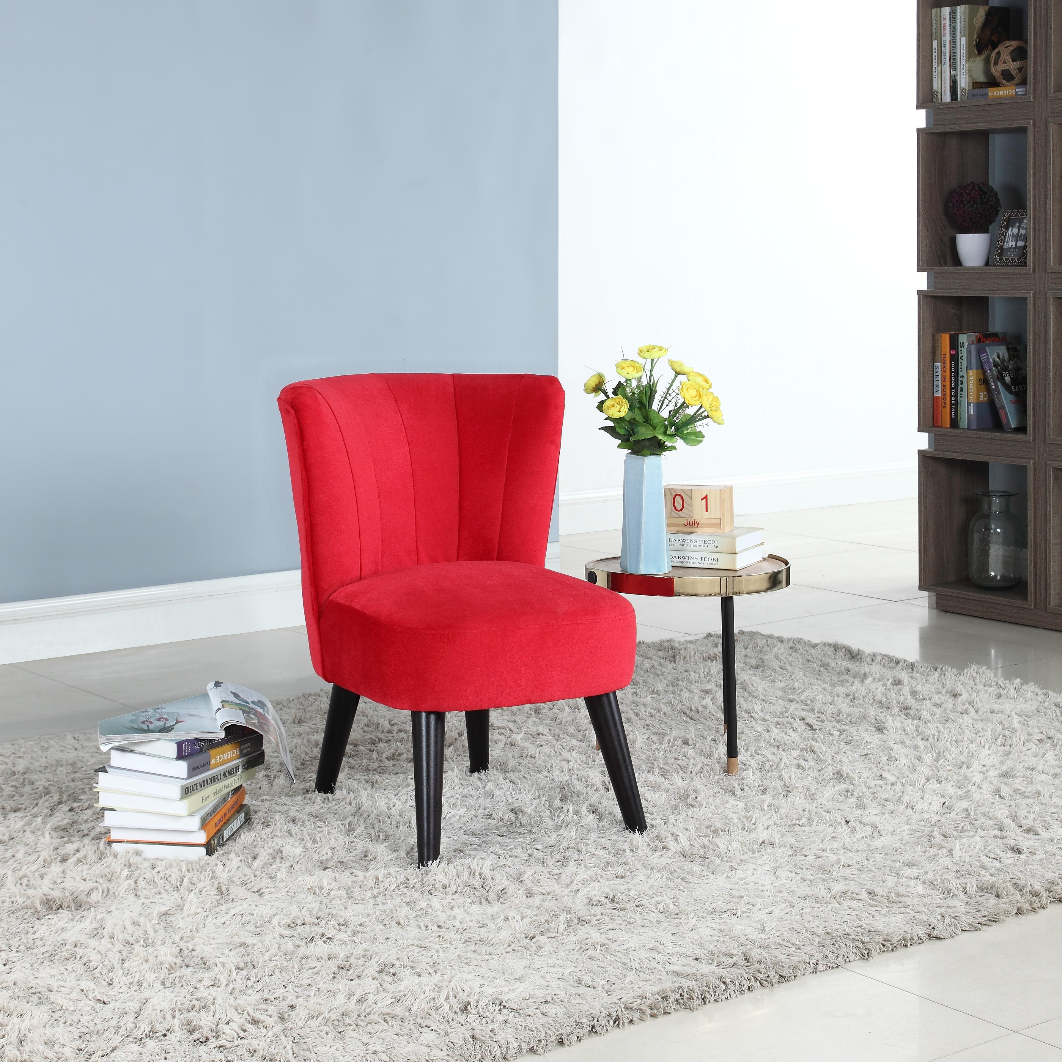 Traditional living room velvet fabric accent chair walmart com