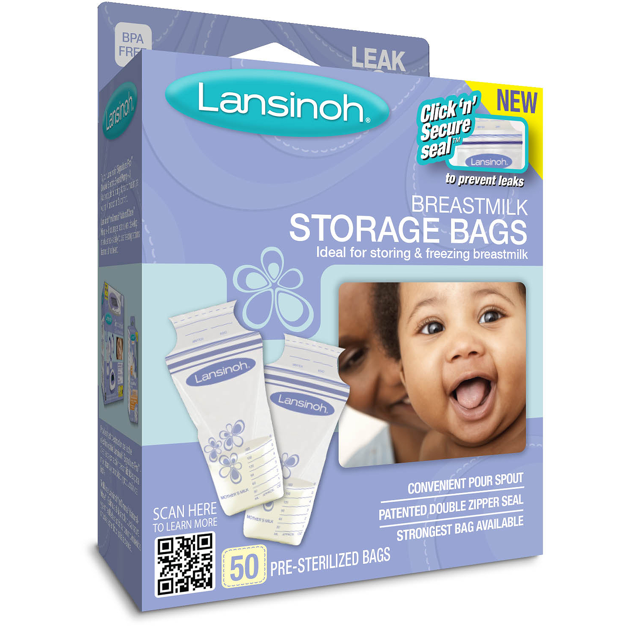 Lansinoh - Set of 50 BPA-Free Breast Milk Storage Bags