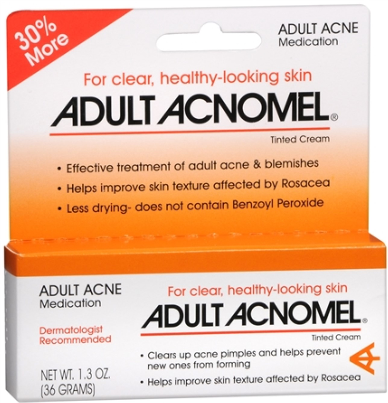 4 Pack - Adult Acnomel Tinted Cream 1.30 oz