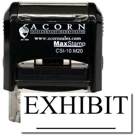 Self-Inking Exhibit Stamp with Orange Ink