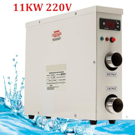 11kw 220v Swimming Pool Spa Hot Tub Electric Tankless Water Heater Thermostat Heating Equipment With