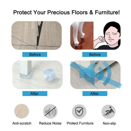 10pcs Round Rubber Feet Leg Pads Anti-scratch Chair Leg Floor Protector 17mm - image 4 of 7