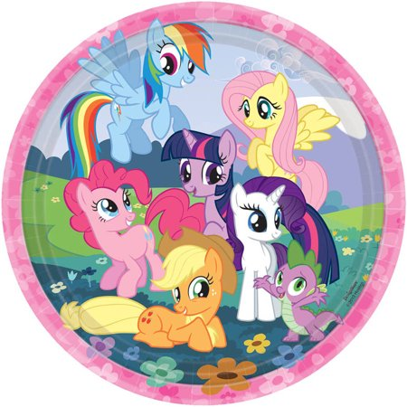 My Little Pony Plates (My Little Pony Friendship Magic Dinner Plates, 8pk )