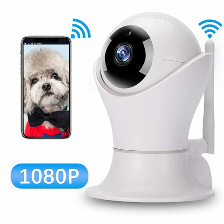 HD 1080P Wireless IP Camera, WiFi Home Security Surveillance IP Camera with 3D Navigation Panorama for Elder Pet Office Baby Monitor, Nanny Cam with PTZ Two Way Audio Motion Detection Night Vision (Samsung Ip Cam)