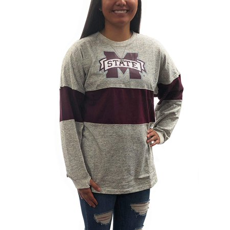 Mississippi State University Alumni - Mississippi State Bulldogs Oversized Tee; Long Sleeve T - Shirt University Apparel Clothing