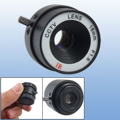 16mm CCTV Video Security F1.6 IR CS Mount Camera Lens