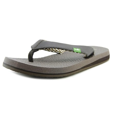 Image of Sanuk Yoga Mat Women Open Toe Synthetic Brown Flip Flop Sandal