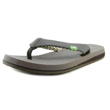 Image of Sanuk Yoga Mat Women Open Toe Synthetic Brown Flip Flop Sandal