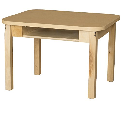 Classroom High Pressure Laminate Desk with Hardwood Legs- 14""