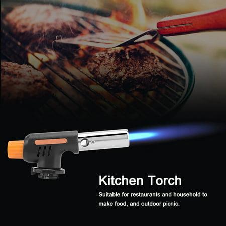 Spptty Camping Gas Torch Welding Fire Maker Lighter Butane Burner Flame Gun for BBQ, Blow Torch, Butane Torch (Torch Fired)
