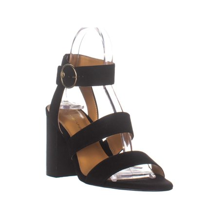 low price check out united kingdom Tommy Hilfiger Sentri Ankle Stap Heeled Sandals, Black Fabric ...