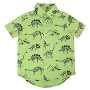HDE Boys Short Sleeve Button Down Cotton Shirt Cute Pattern Prints - Size 2T-10/12