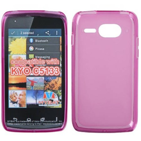 Faceplate Cover Candy - Kyocera C5133 Event MyBat Candy Skin Cover, Semi-Transparent Hot Pink