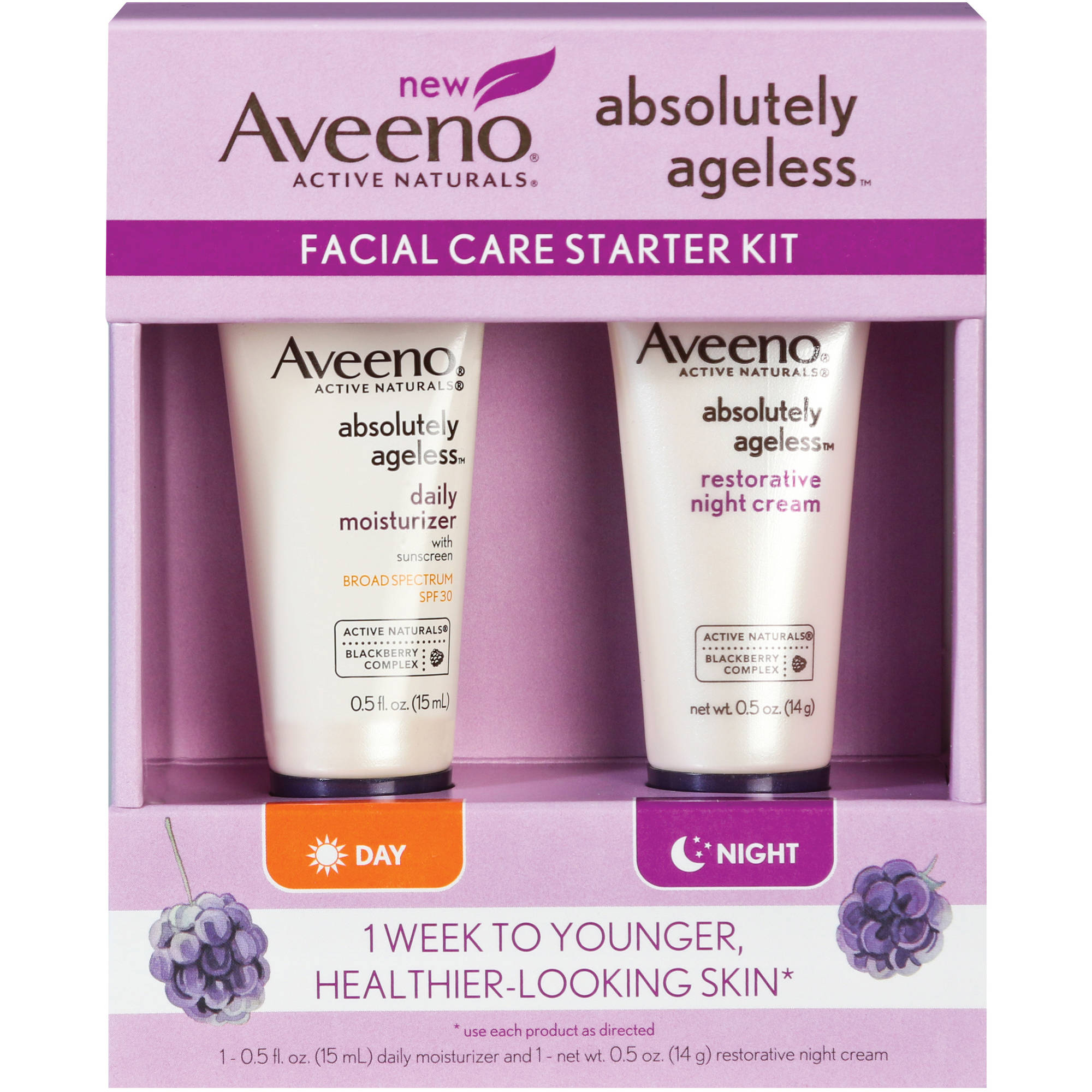 Aveeno Absolutely Ageless Facial Care Starter Kit, 2 pc