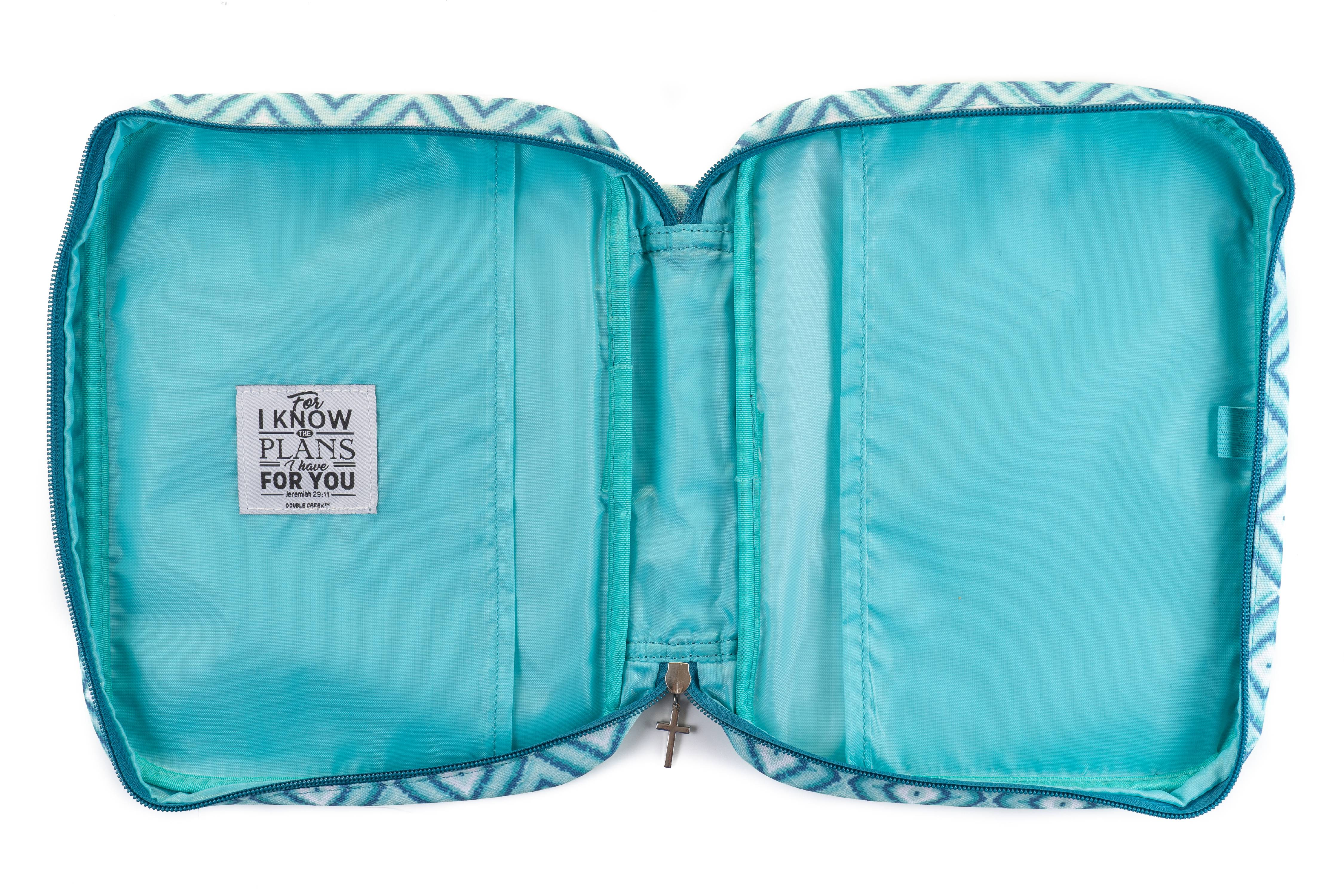 Double Creek Bible Case Cover for Women Zippered Carrying Case Organizer with Handles /& Pockets Jeremiah 29:11 for I Know The Plans I Have for You