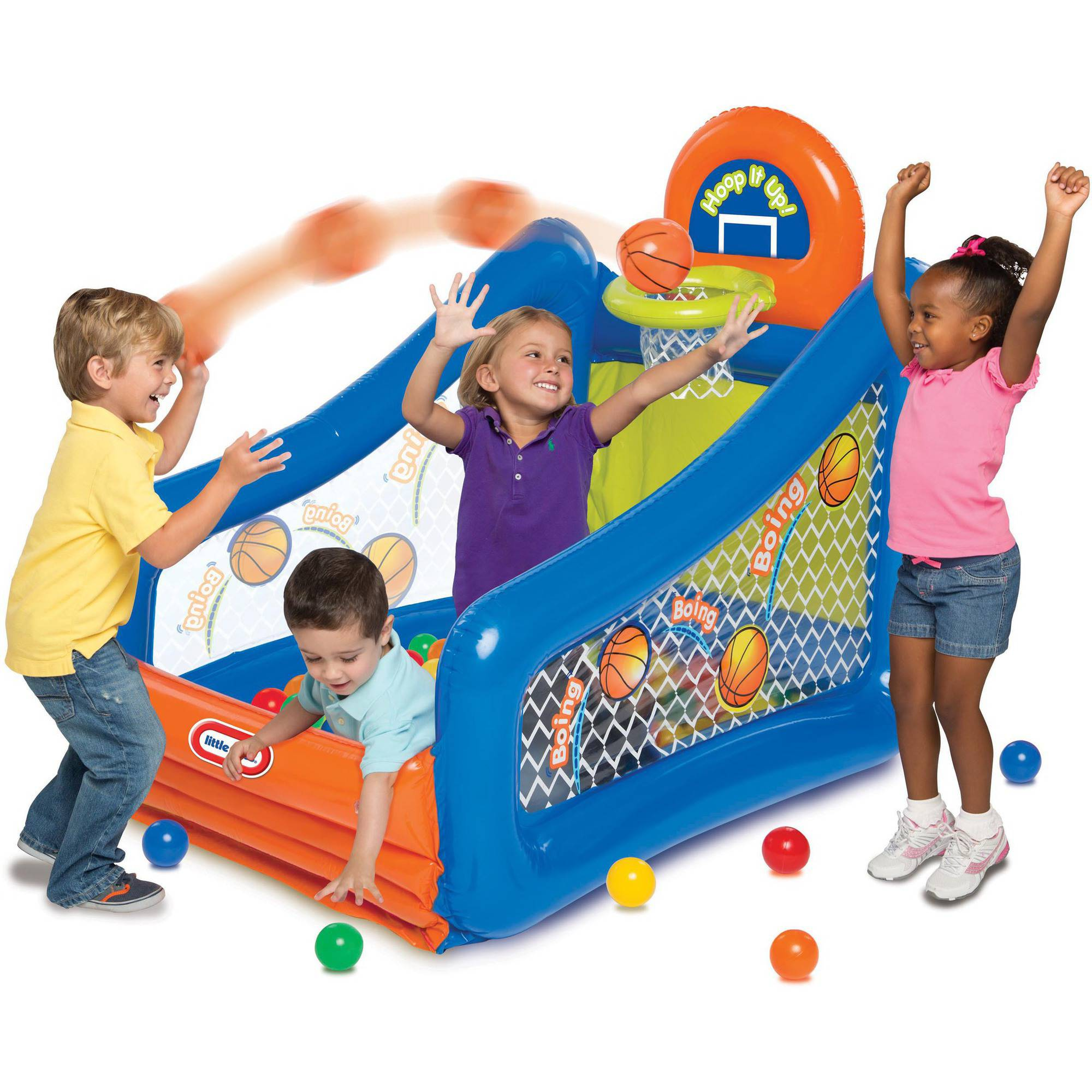 Little Ball Toys : Little tikes hoop it up play center ball pit inflatable