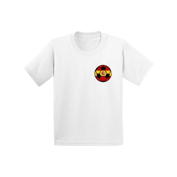 Awkward Styles Spain Soccer Infant Shirt Spanish Baby Tshirt Spain Shirts Spanish Flag Gifts Spain Soccer Ball Shirt for Baby Boys Spain Tshirt for Baby Girls Argentian Gifts Spanish Kids