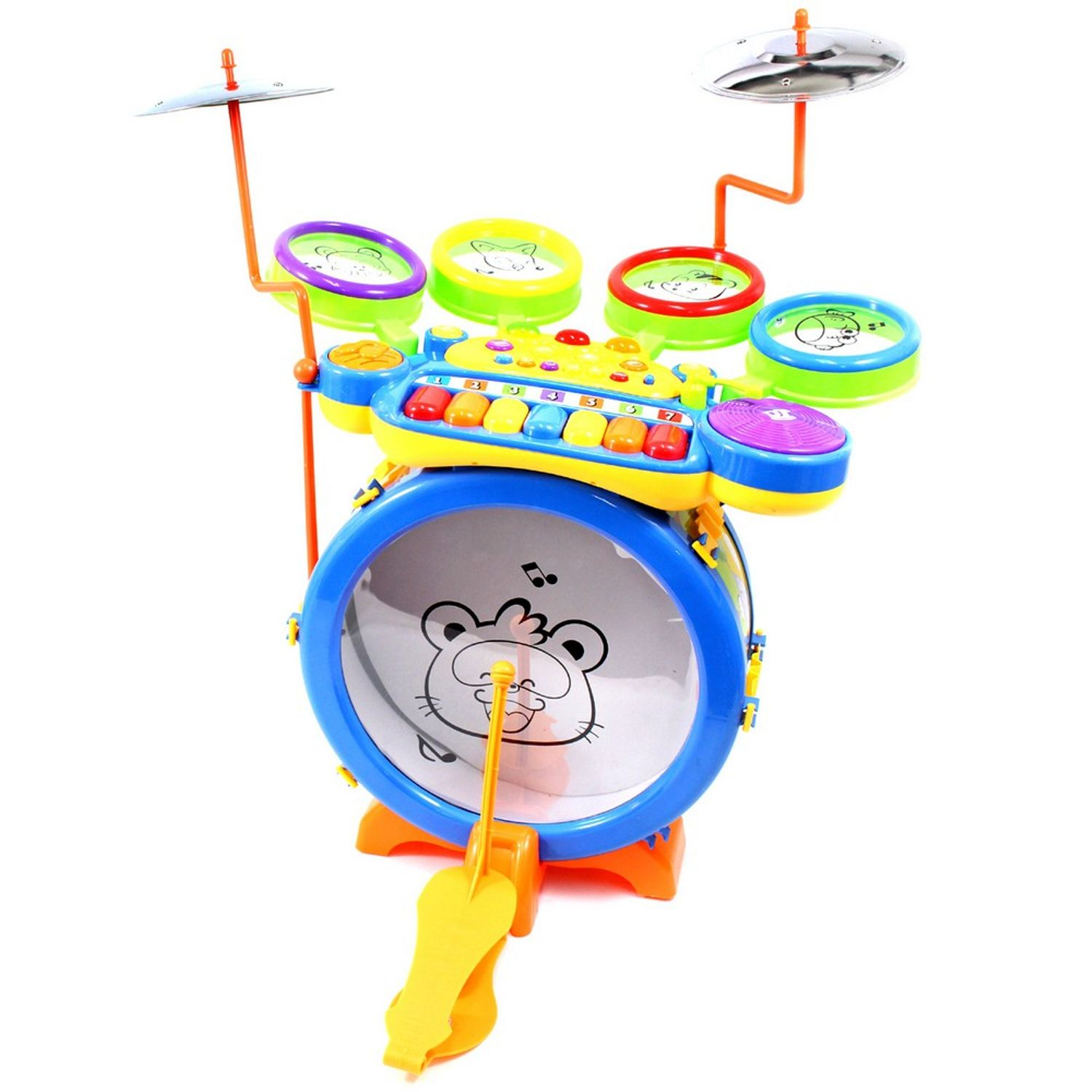 "15"" Toy Drum & Keyboard Play Set for Children"