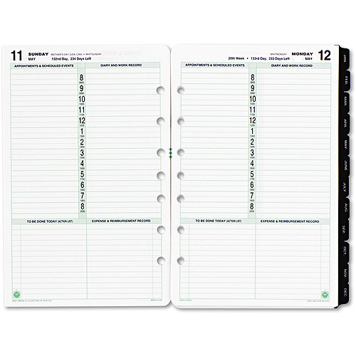 "Day-Timer Dated 1-Page-per-Day Organizer Refill, January-December, 5.5"" x 8.5"", 2014"